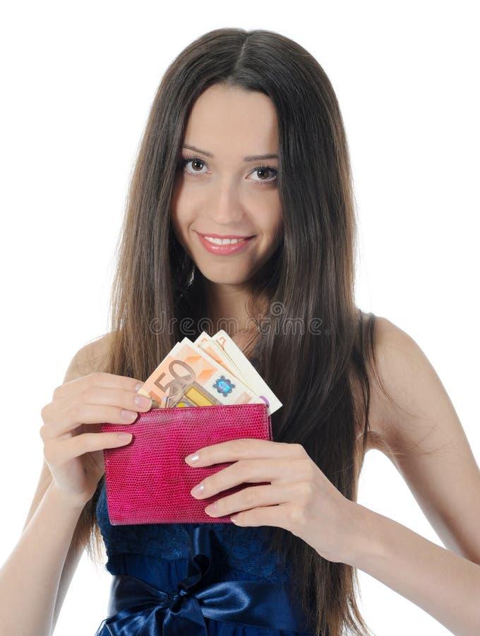 Mulher com dinheiro imagem de stock royalty free