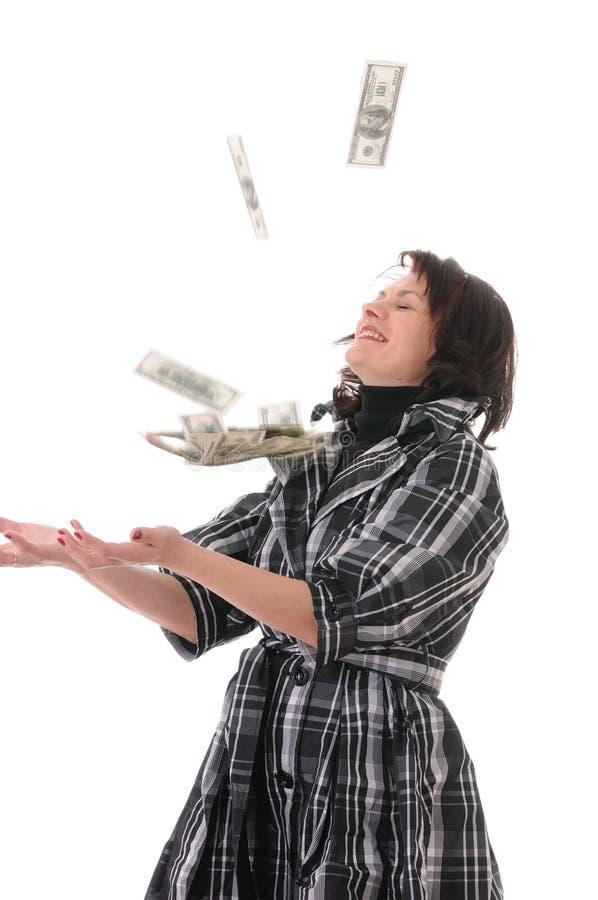 Mulher com dinheiro imagem de stock