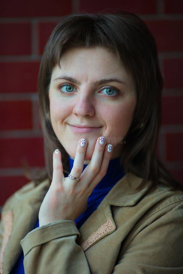 Mulher com emoções diferentes fotografia de stock royalty free