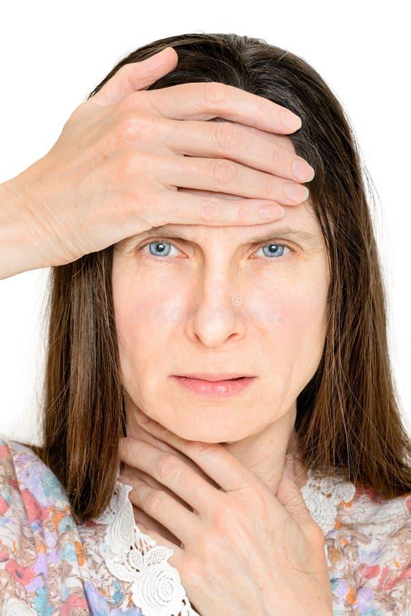 Mulher com gripe fotografia de stock