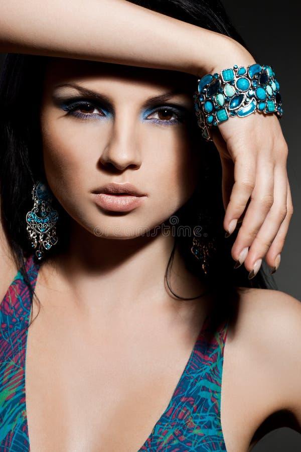 Mulher com jóia imagens de stock royalty free