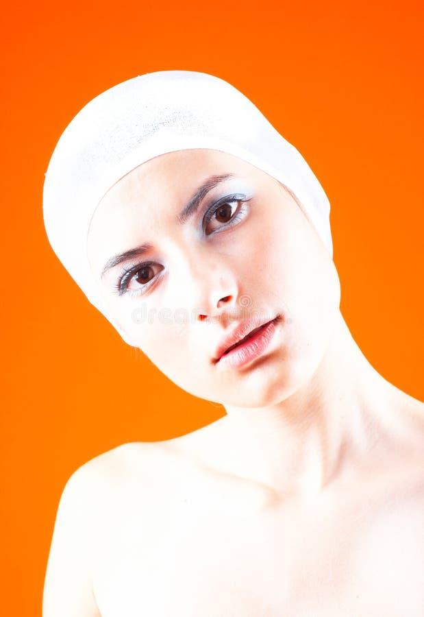 Mulher com o cabelo coberto - 4 fotos de stock
