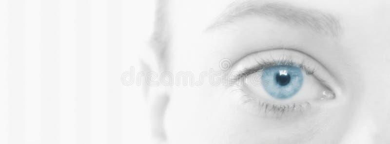 Mulher com olhos azuis bonitos fotografia de stock royalty free