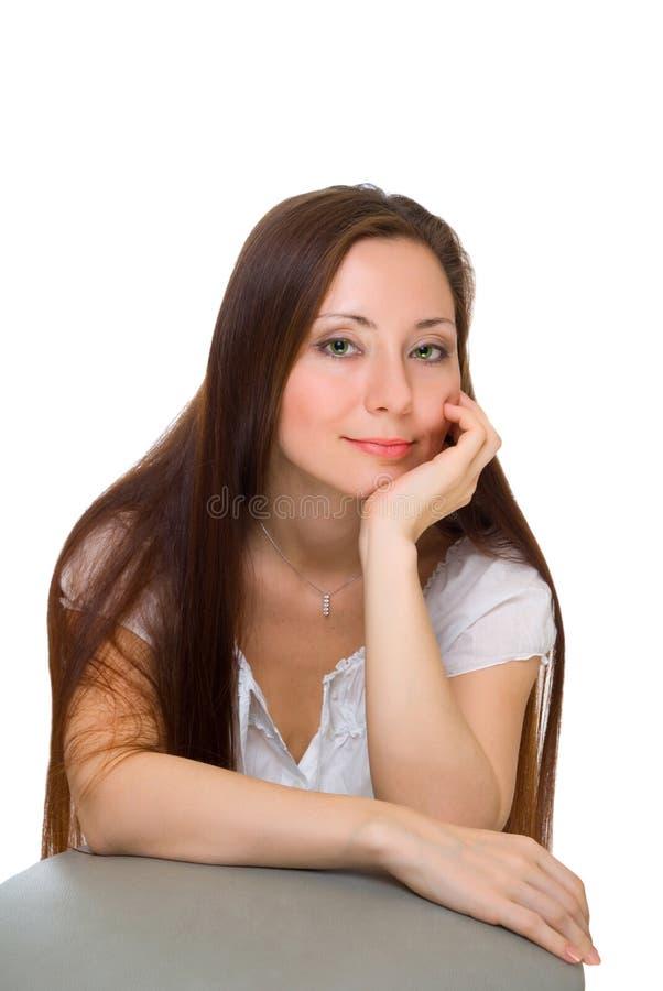 Download Mulher com olhos verdes foto de stock. Imagem de cute - 12806754