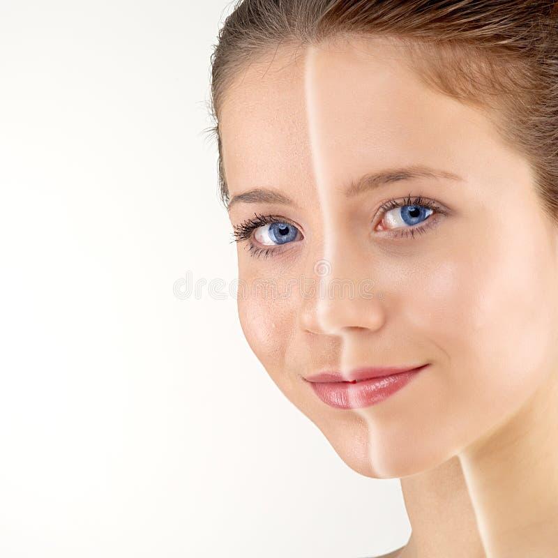 Mulher com pele macia imagens de stock