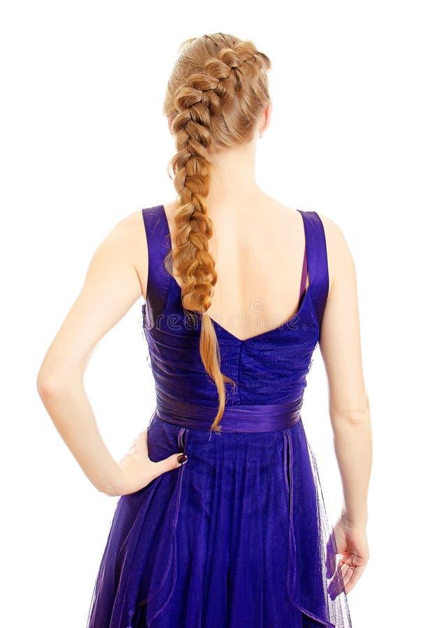 Mulher com pigtail fotografia de stock royalty free