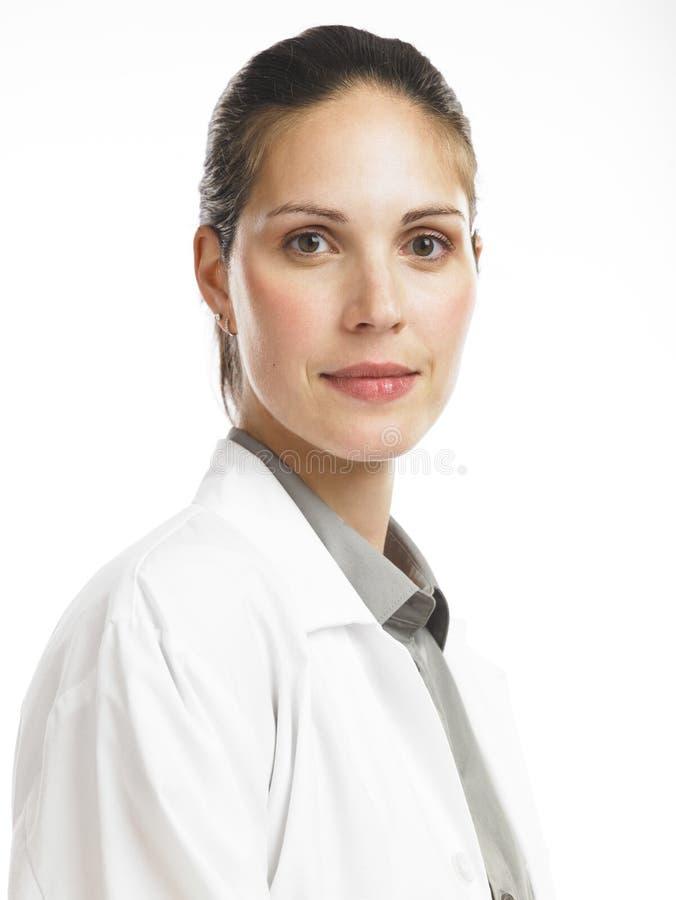 Mulher com revestimento 2 do laboratório fotos de stock royalty free