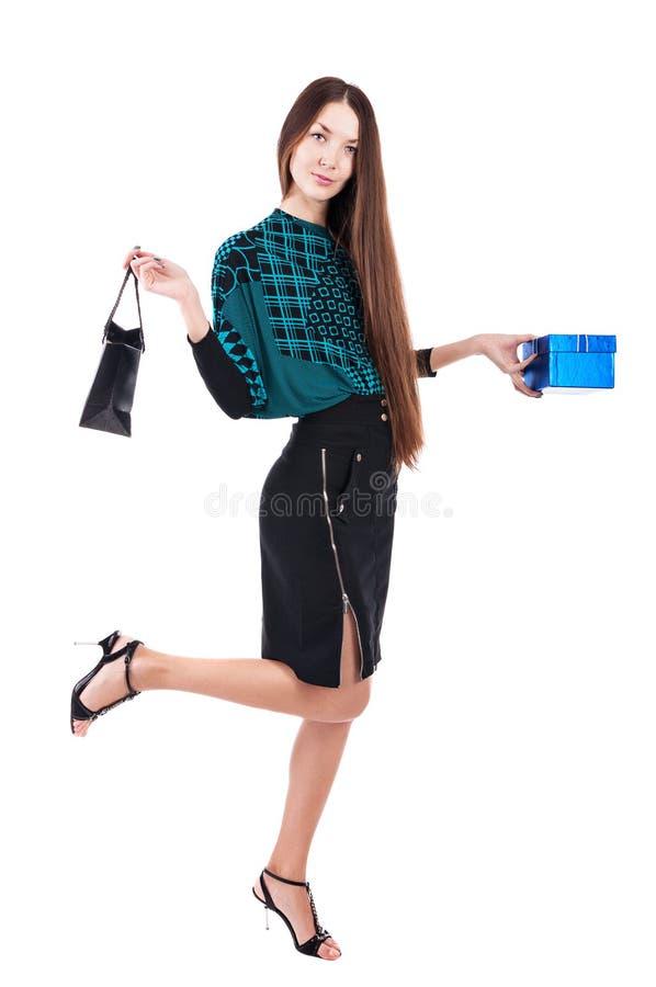 Mulher com saco de compras imagem de stock royalty free