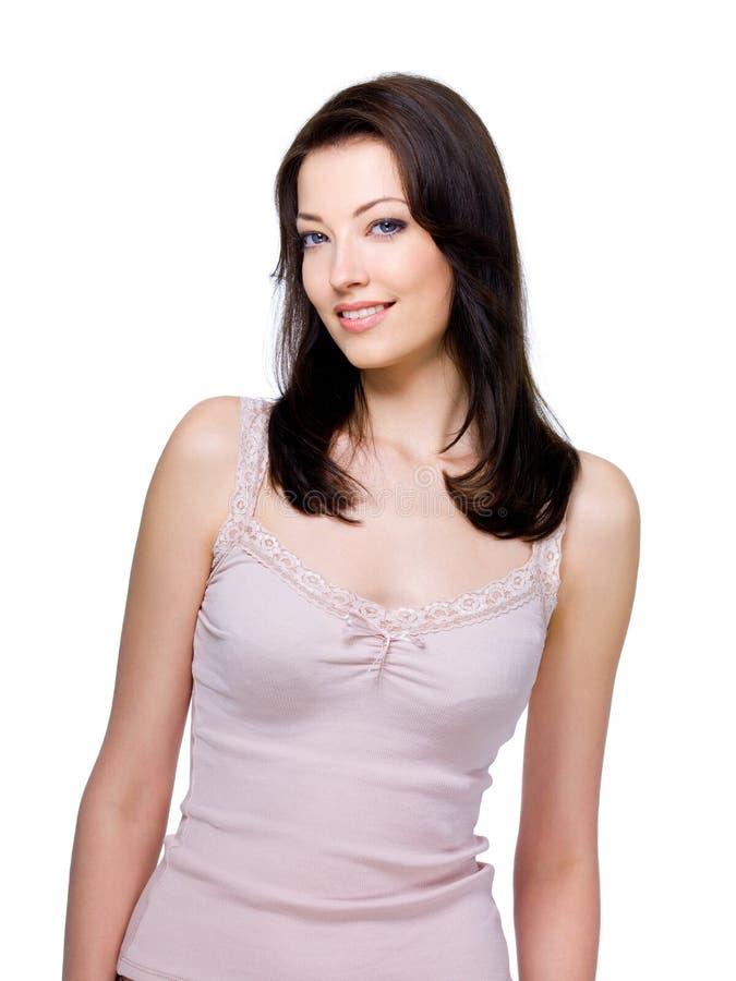 Mulher com sorriso fácil fotos de stock royalty free