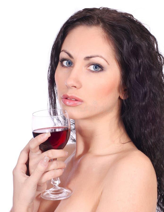 Download Mulher Com Vidro Do Vinho Vermelho Foto de Stock - Imagem de estúdio, elegance: 16857340