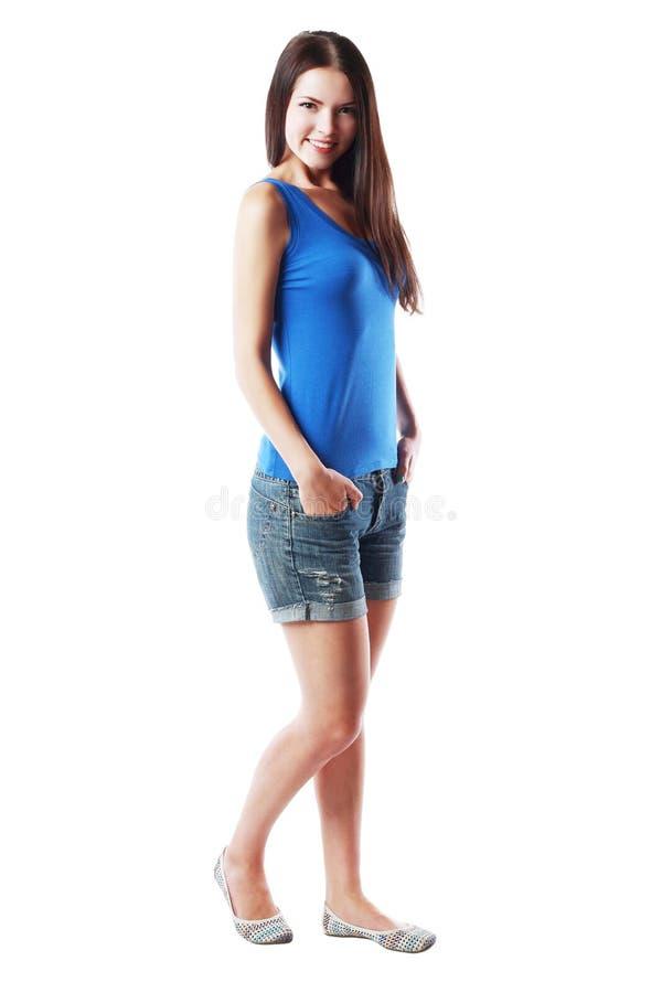 Mulher completa do retrato do corpo imagens de stock royalty free