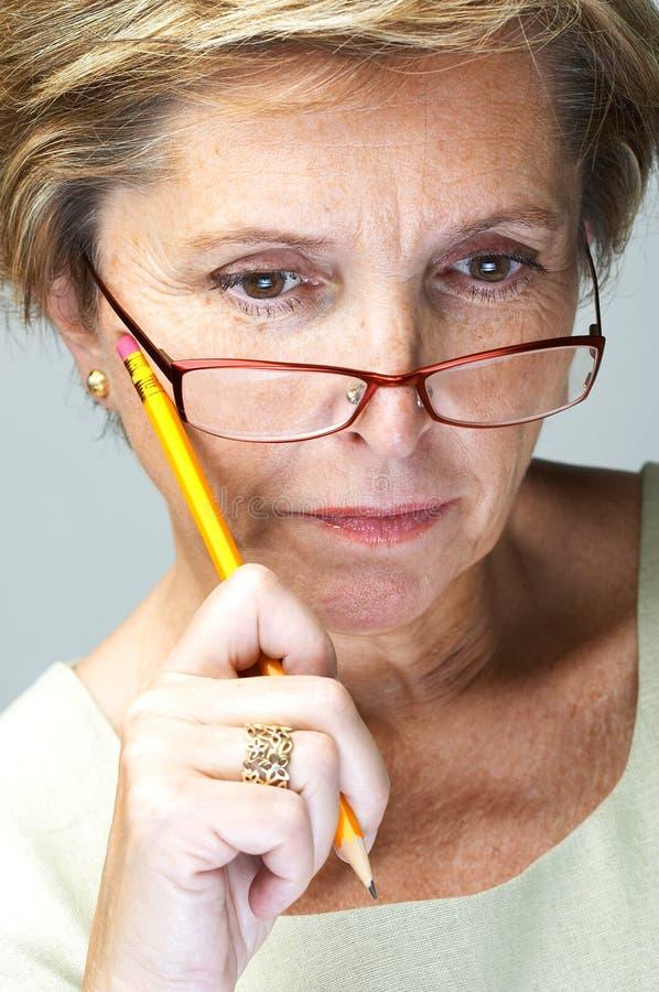 Mulher concentrada imagens de stock royalty free