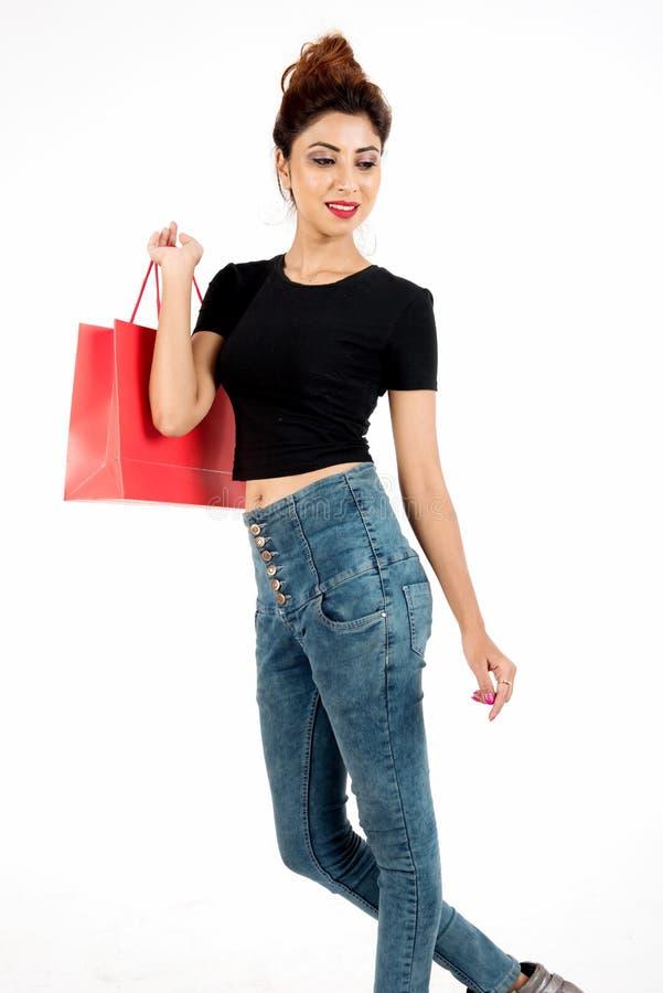 Mulher consideravelmente nova foto de stock