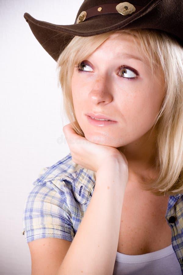 Download Mulher Consideravelmente Ocidental Foto de Stock - Imagem de engraçado, cowgirl: 16858808