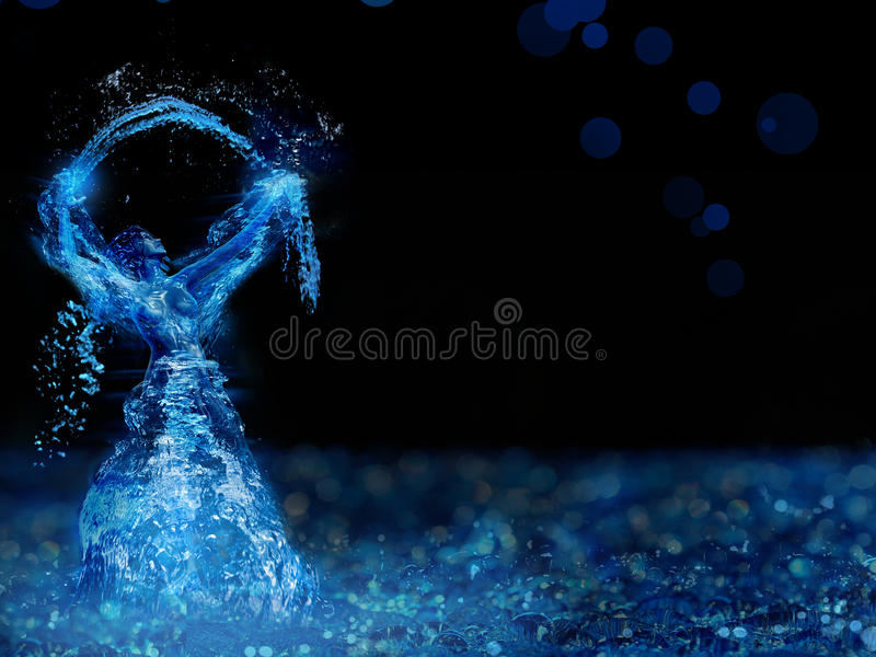 Mulher da água ilustração royalty free