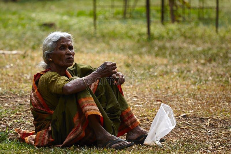 Mulher da Índia no vestido tradicional