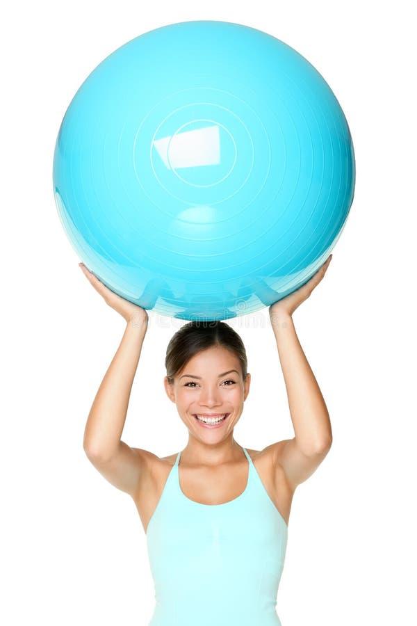Mulher da aptidão de Pilates isolada imagem de stock royalty free