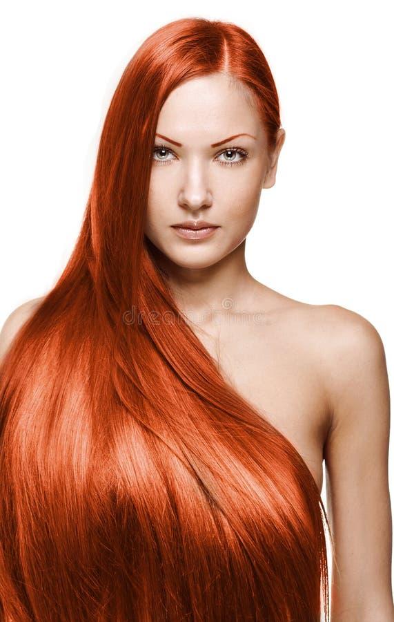 Mulher da beleza. cabelo longo imagens de stock