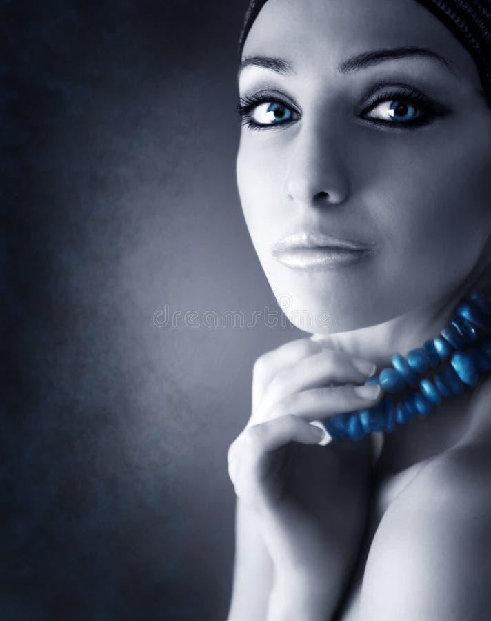 Mulher da beleza do retrato imagem de stock