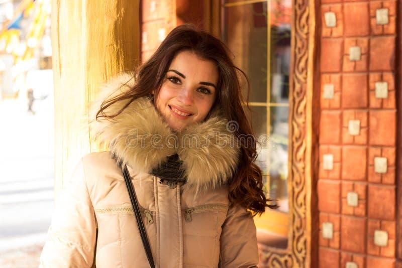 Mulher da beleza no inverno imagens de stock royalty free