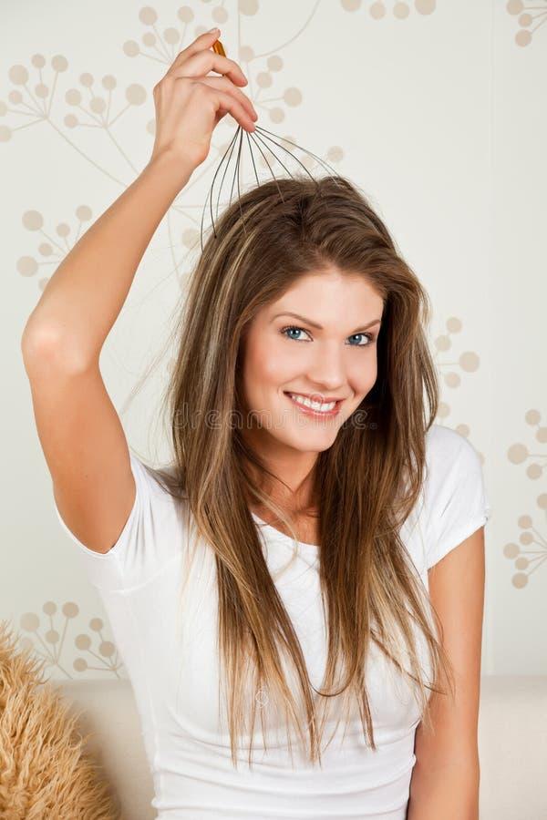 Download Mulher Da Beleza Que Toma A Massagem Principal Foto de Stock - Imagem de limpo, calma: 12803474