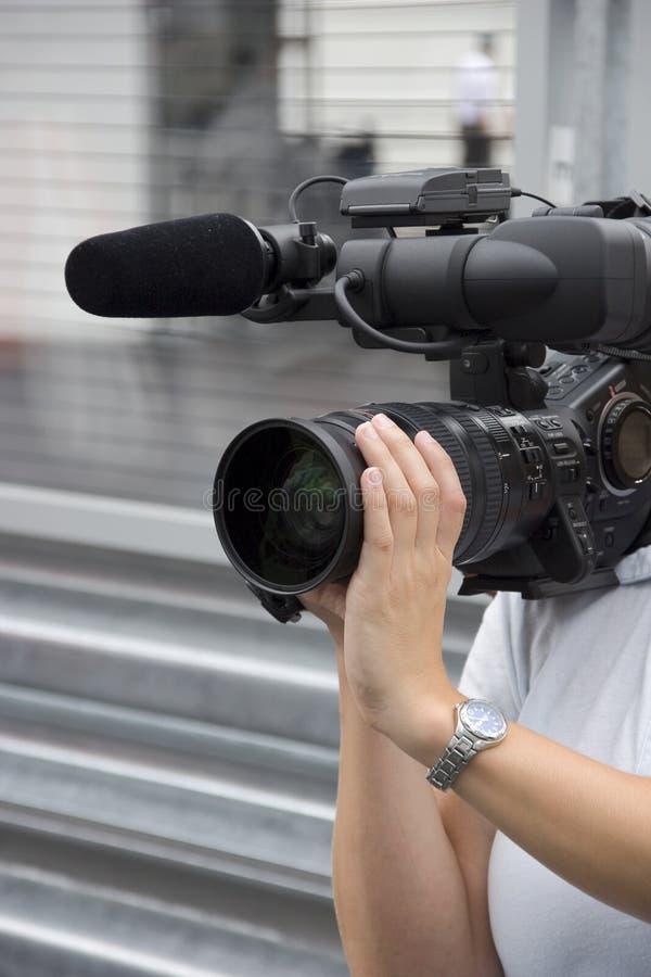 Mulher da câmera foto de stock royalty free