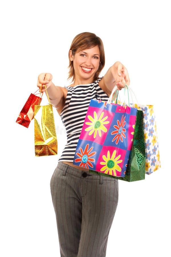 Mulher da compra fotos de stock royalty free