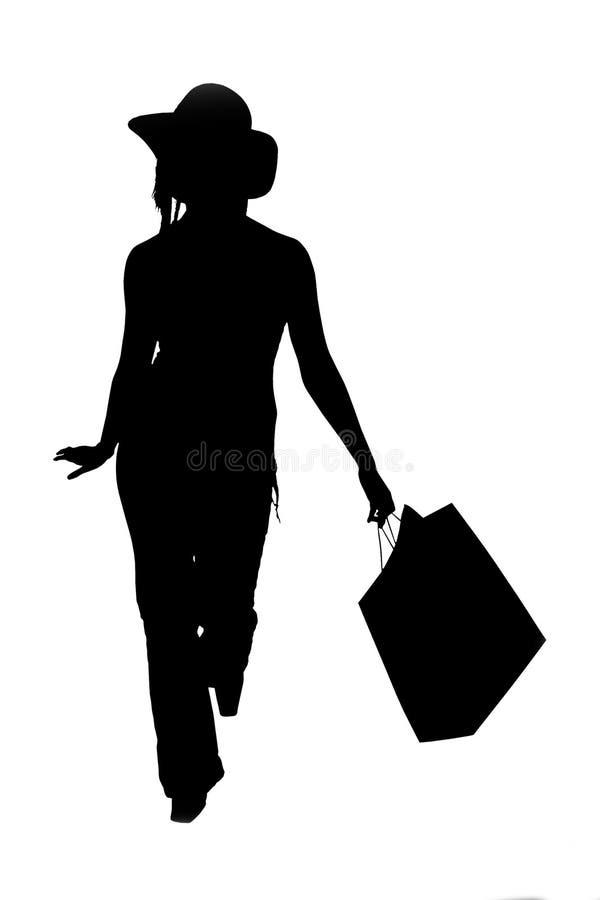 Mulher da compra ilustração do vetor