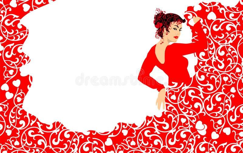Mulher da dança do Flamenco fotografia de stock royalty free