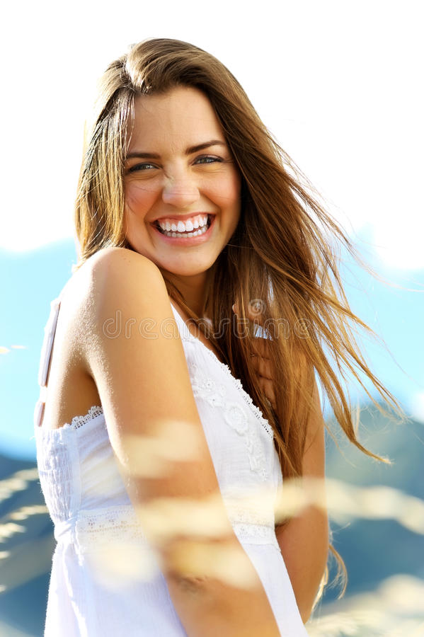 Mulher da felicidade foto de stock