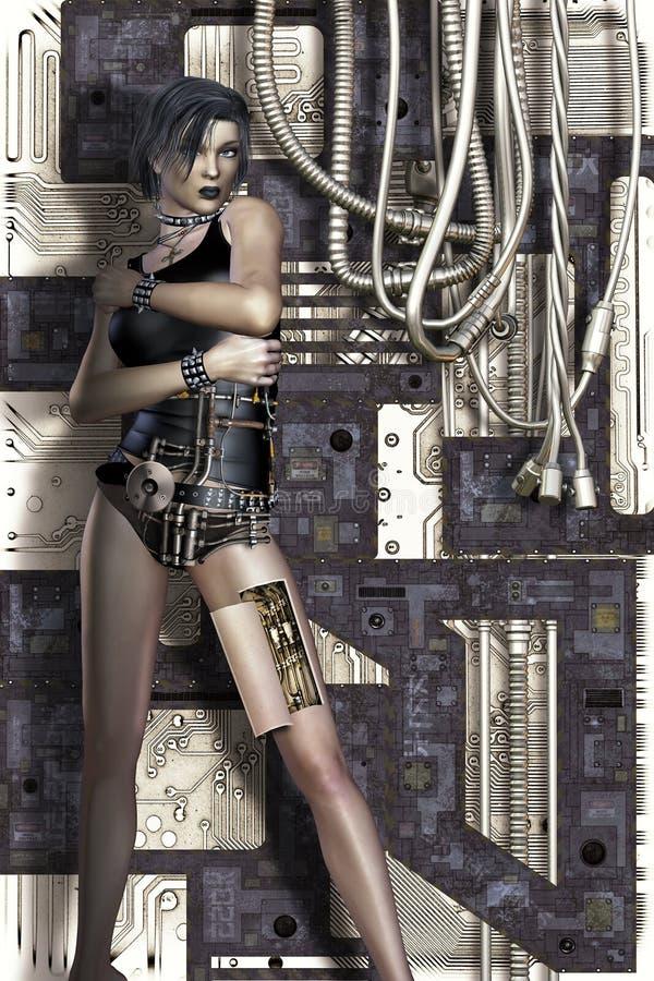 Mulher da ficção científica ilustração royalty free