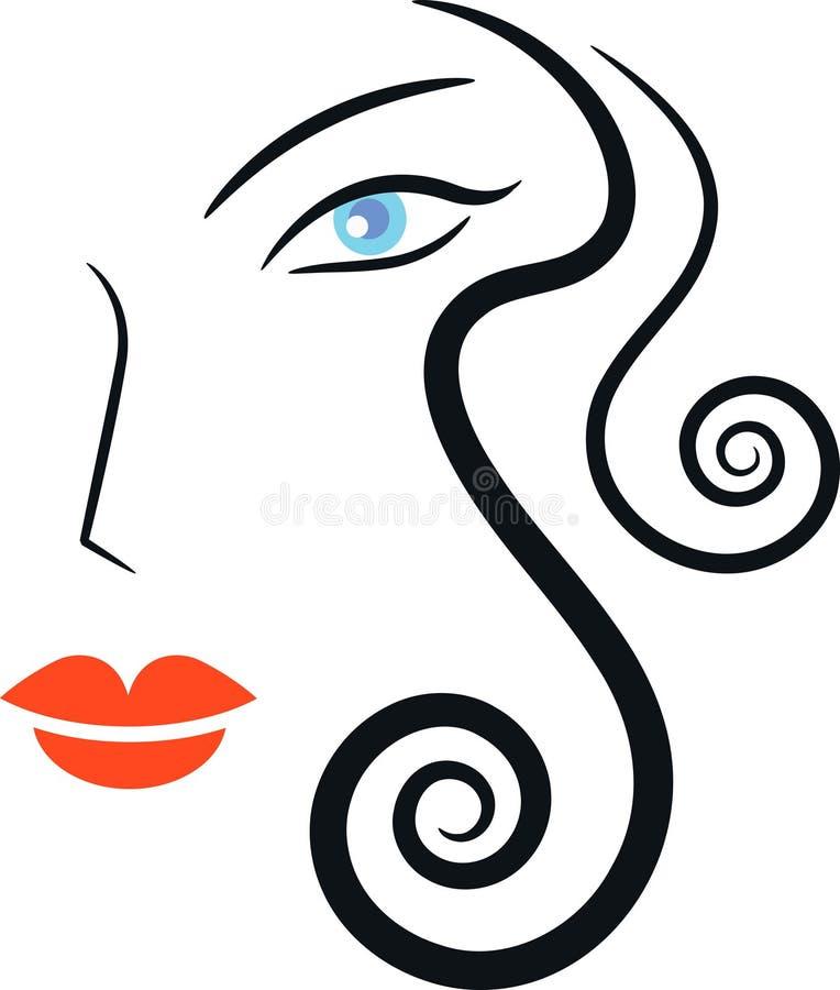 Mulher da forma ilustração royalty free