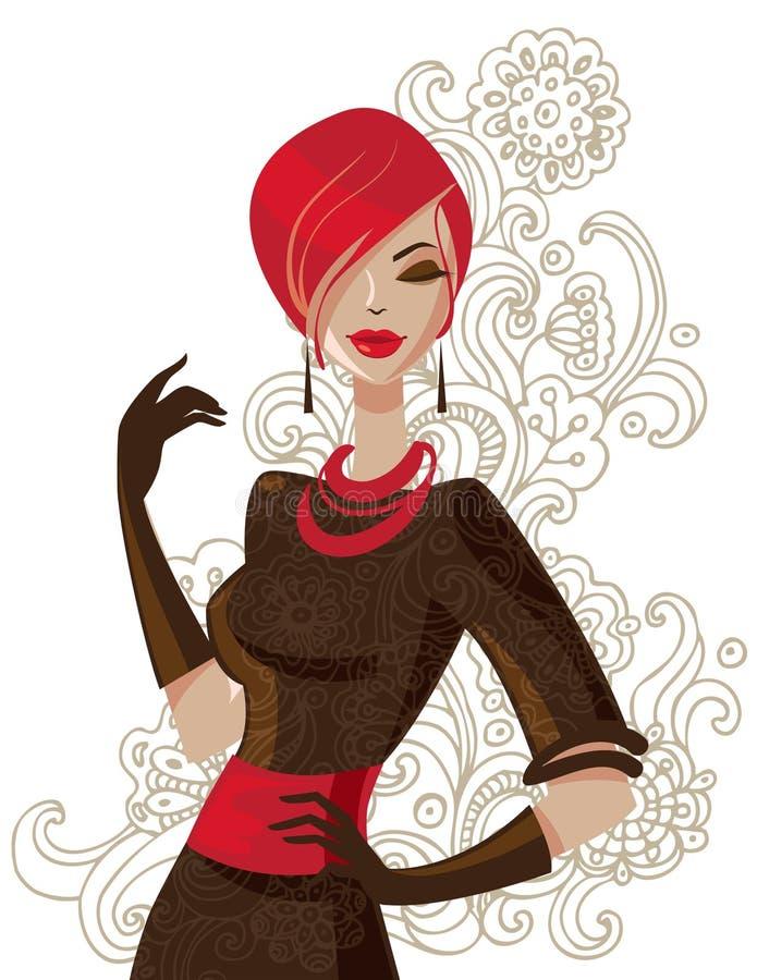 Mulher da forma ilustração stock