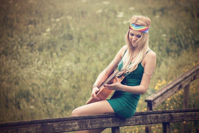Mulher da hippie imagem de stock