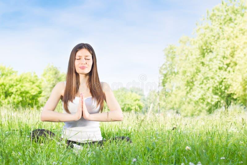 Mulher da ioga fotografia de stock