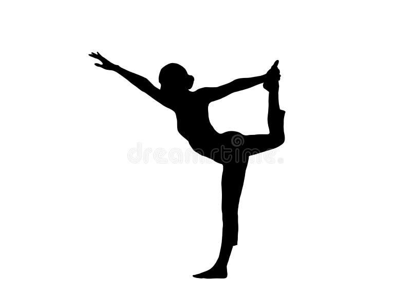 Mulher da ioga ilustração royalty free