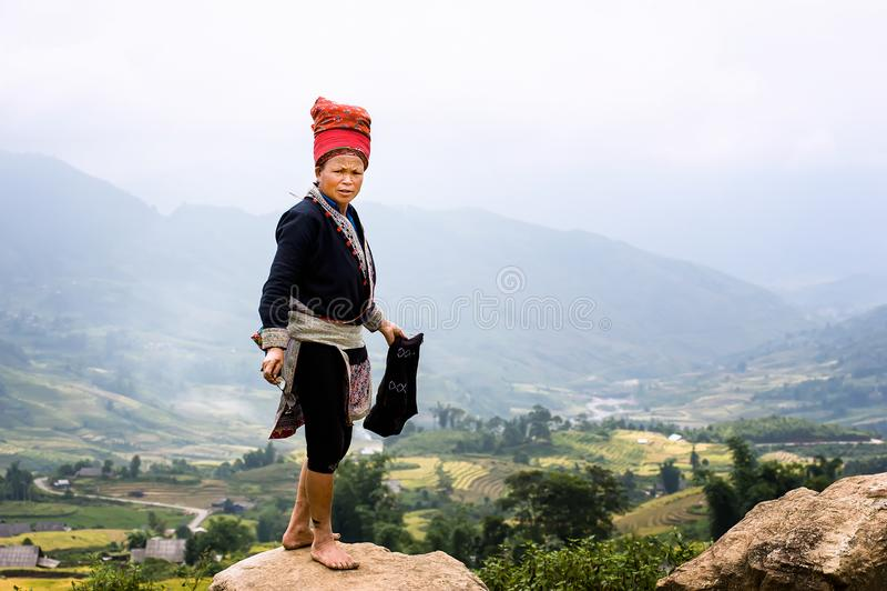 Mulher da minoria étnica em Vietname imagens de stock royalty free