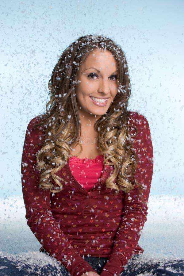 Mulher da neve do inverno imagem de stock royalty free