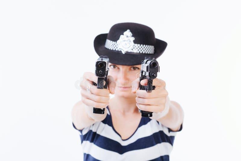 Mulher da polícia foto de stock