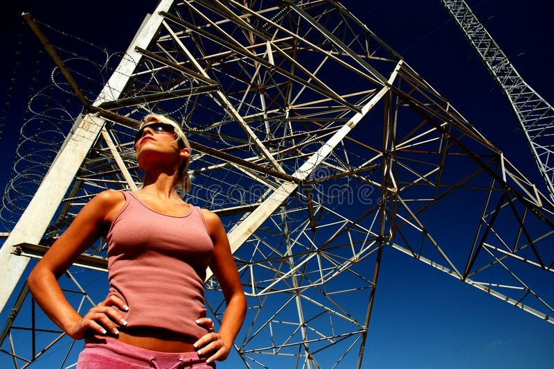 Mulher da potência III fotografia de stock