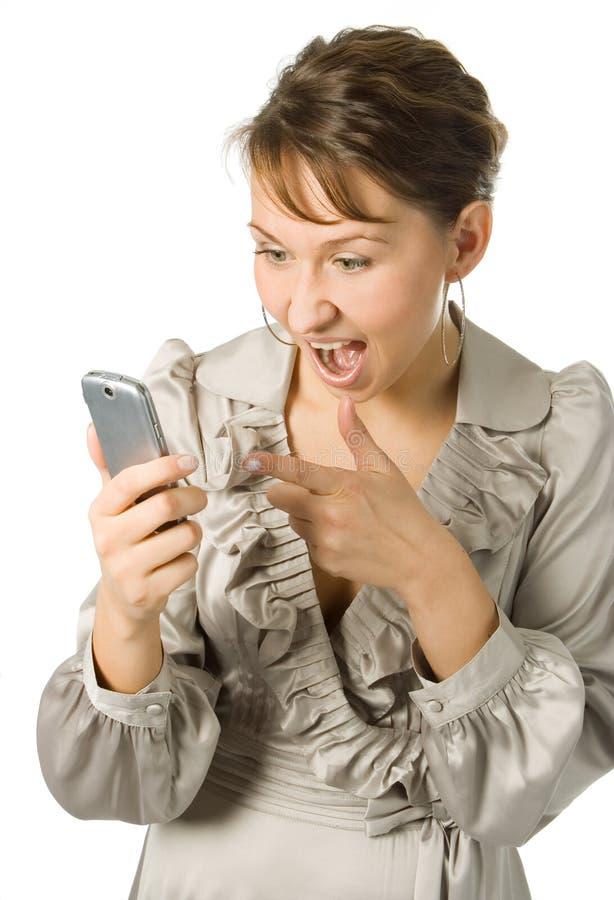 Mulher da raiva do negócio fotos de stock