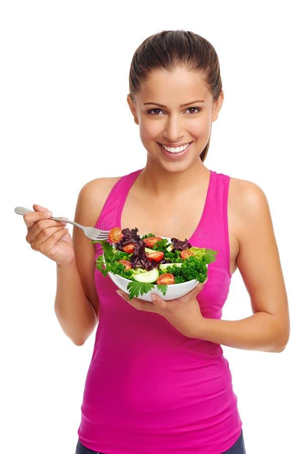 Mulher da salada fotografia de stock royalty free