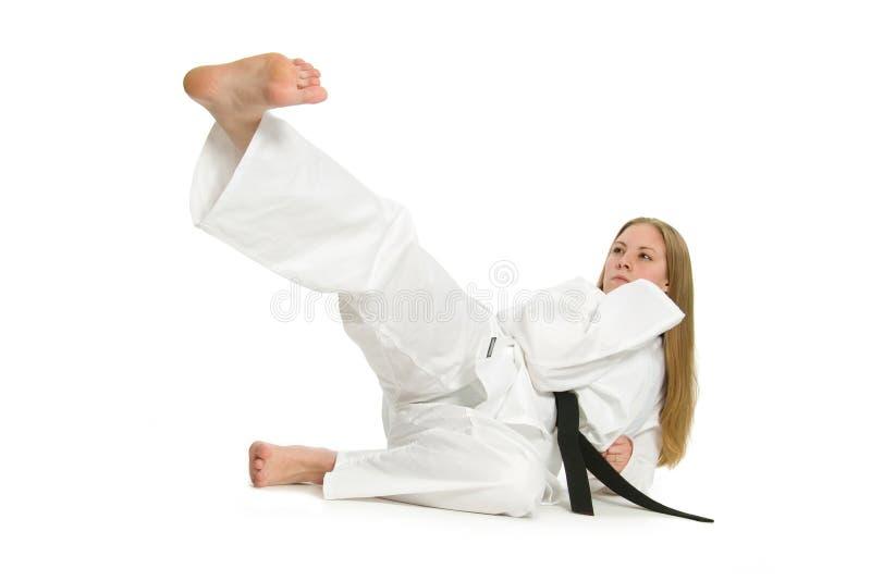 Mulher das artes marciais foto de stock royalty free