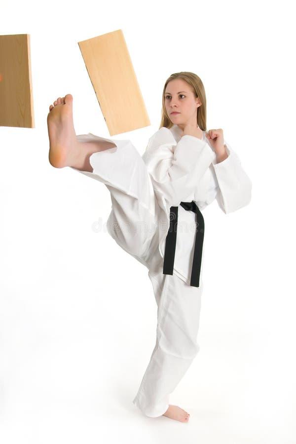 Mulher das artes marciais fotografia de stock