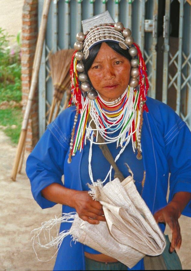 Mulher de Akha, Tailândia fotos de stock royalty free