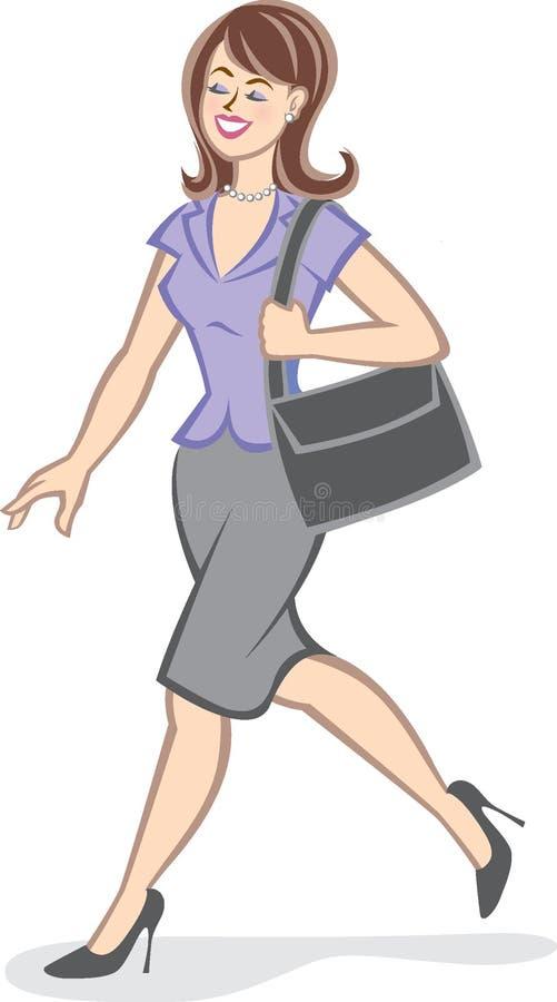 Mulher de carreira confiável ilustração stock