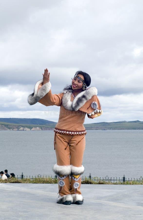 Mulher de Chukchi fotografia de stock