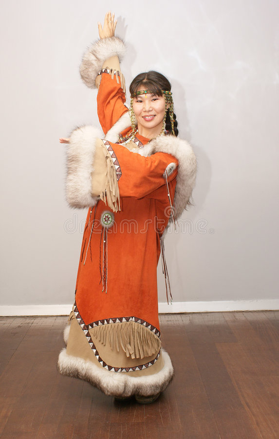 Mulher de Chukchi imagens de stock royalty free