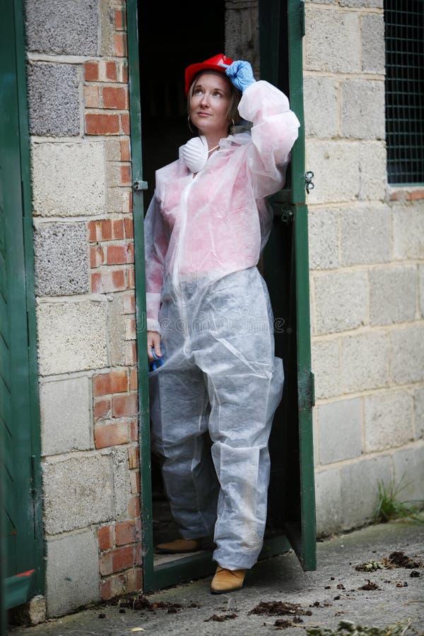 Mulher de CSI fotografia de stock