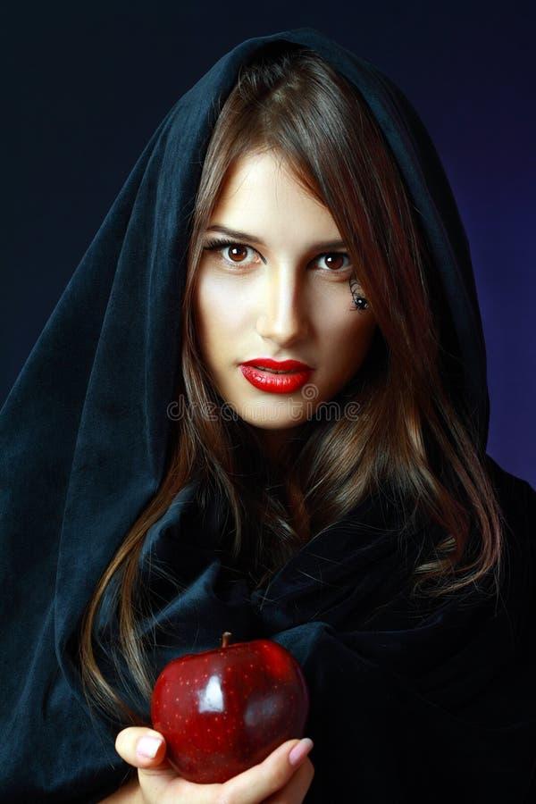 Mulher de Dia das Bruxas foto de stock